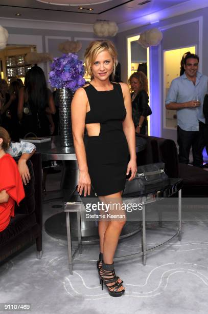 Jessica Capshaw attends the Judith Leiber Rodeo Drive store opening on September 23 2009 in Beverly Hills California