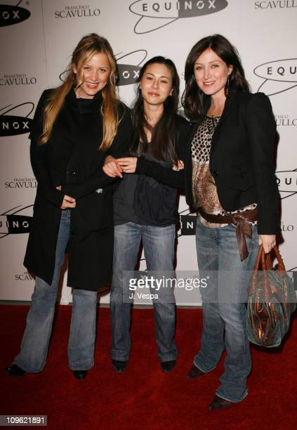 Jessica Capshaw China Chow and Sasha Alexander during Equinox Fitness Club Westwood Location Grand Opening at Equinox in Los Angeles California...