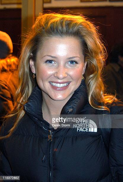 Jessica Capshaw during Jessica Capshaw and Andrew McCarthy Attend 'Fat Pig' February 1 2005 at Lucille Lortel Theatre in New York City New York...