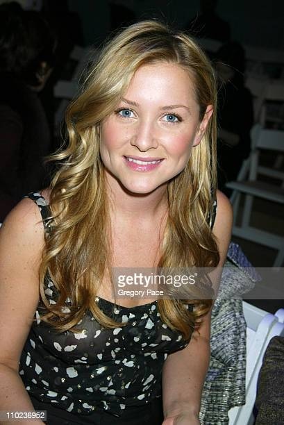 Jessica Capshaw during Olympus Fashion Week Fall 2005 - Tuleh - Backstage and Front Row at Bryant Park Tents in New York City, New York, United...