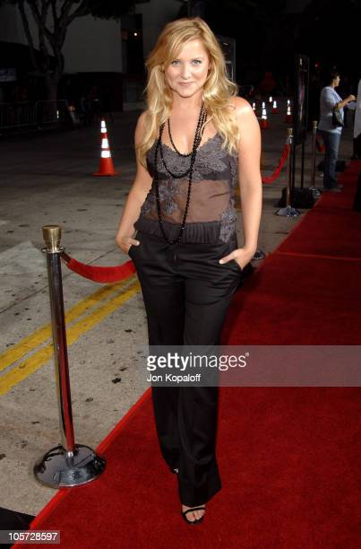 Jessica Capshaw during Red Eye Los Angeles Premiere Red Carpet at Mann Bruin Theater in Westwood California United States