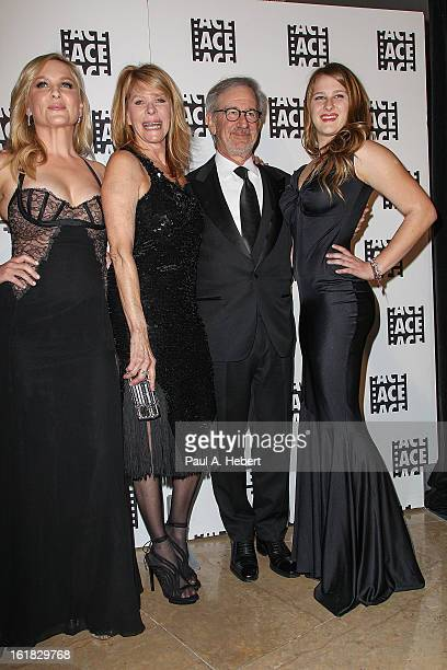 Jessica Capshaw Kate Capshaw Steven Spielberg and Destry Allyn Spielberg arrive at the 63rd Annual ACE Eddie Awards held at The Beverly Hilton Hotel...
