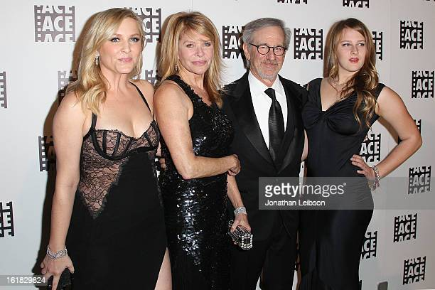 Jessica Capshaw Kate Capshaw Steven Spielberg and Destry Allyn Spielberg attend the 63rd Annual ACE Eddie Awards at The Beverly Hilton Hotel on...