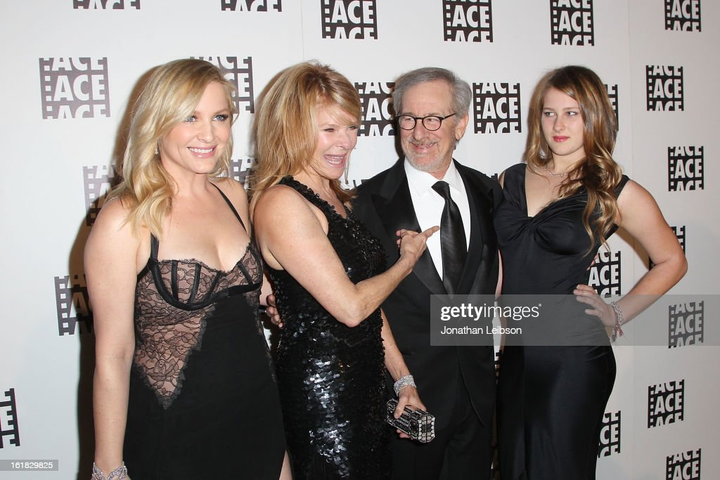 Jessica Capshaw, Kate Capshaw, Steven Spielberg and Destry Allyn Spielberg attend the 63rd Annual ACE Eddie Awards at The Beverly Hilton Hotel on February 16, 2013 in Beverly Hills, California.