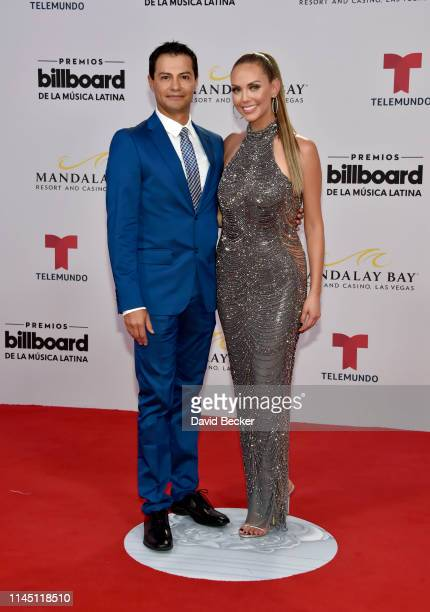 Jessica Carrillo and guest attend the 2019 Billboard Latin Music Awards at the Mandalay Bay Events Center on April 25 2019 in Las Vegas Nevada