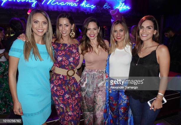 Jessica Carrillo Paulina Sodi Michelle Galvan Alejandra de la Fuente and Karina Banda are seen at Karina Banda's surprise birthday celebration at...
