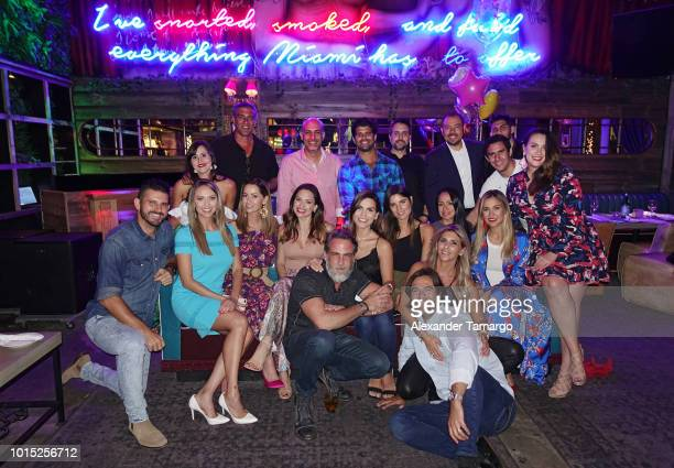 Jessica Carrillo Paulina Sodi Michelle Galvan Carlos Ponce Karina Banda and Alejandra de la Fuente are seen with friends at Karina Banda's surprise...