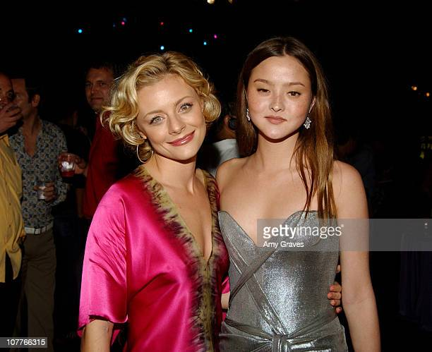 Jessica Cauffiel and Devon Aoki during Opening Night Gala of Outfest Film Festival 2004 AfterParty at Orpheum Theatre in Los Angeles California...