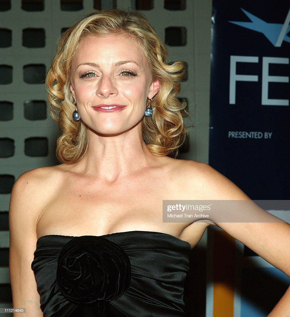 Jessica Cauffiel during AFI Fest 2005 - 'The World's Fastest Indian' Los Angeles Premiere - Arrivals at Cinerama Dome - Arclight in Hollywood, California, United States.