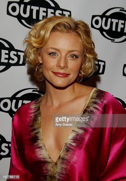 Jessica Cauffiel during Opening Night Gala of Outfest Film Festival 2004 Red Carpet and Backstage at Orpheum Theatre in Los Angeles California United...