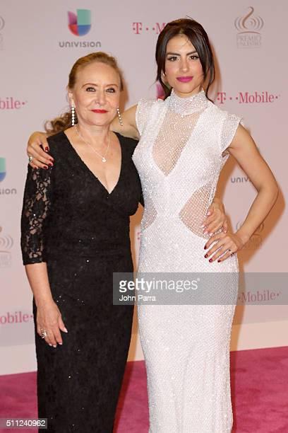 Jessica Cediel and guest attend Univision's 28th Edition of Premio Lo Nuestro A La Musica Latina on February 18 2016 in Miami Florida