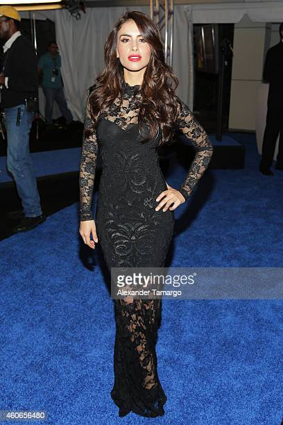 Jessica Cediel attends the inaugural Premios Univision Deportes at Univision Studios on December 17 2014 in Miami Florida