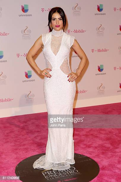 Jessica Cediel attends Univision's 28th Edition of Premio Lo Nuestro A La Musica Latina on February 18 2016 in Miami Florida