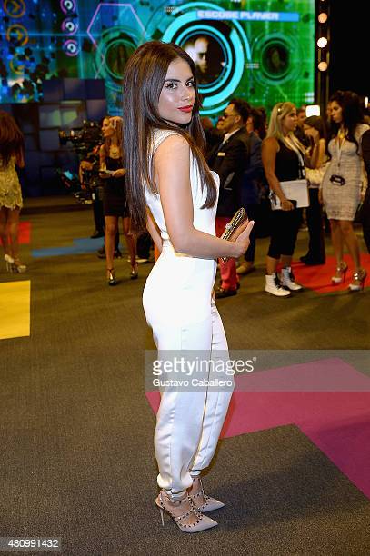 Jessica Cediel attends Univision's Premios Juventud 2015 at Bank United Center on July 16 2015 in Miami Florida
