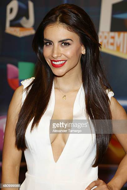 Jessica Cediel is seen arriving at Univision's Premios Juventud 2015 at the Bank United Center on July 16 2015 in Miami Florida