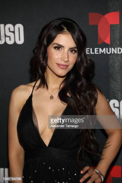 Jessica Cediel is seen at the El Recluso private screening at Telemundo Center on September 18 2018 in Miami Florida