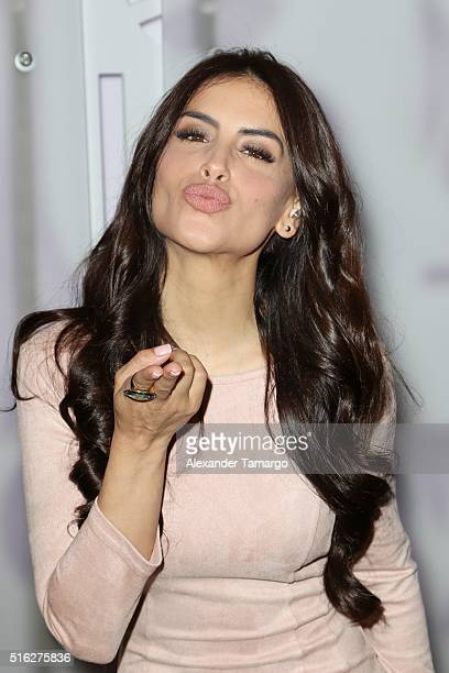 Jessica Cediel is seen on the set of Sal y Pimienta at Univision Studios on March 17 2016 in Miami Florida