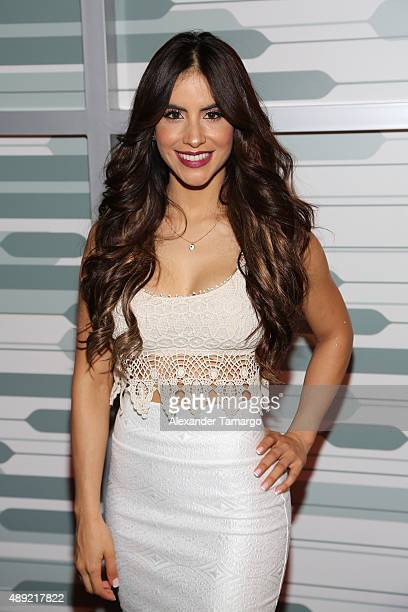 Jessica Cediel poses in the VIP area at Univision's Sabado Gigante Finale at Univision Studios on September 19 2015 in Miami Florida