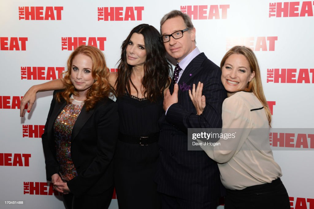 Jessica Chaffin, Sandra Bullock, Paul Feig and Jamie Denbo attend a gala screening of 'The Heat' at The Curzon Mayfair on June 13, 2013 in London, England.