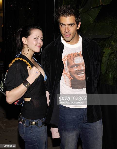Jessica Chandler and Eli Roth during Oasis Restaurant Grand Opening at Oasis in Los Angeles California United States