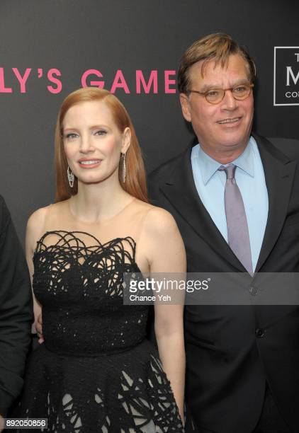 Jessica Chastain and Aaron Sorkin attend 'Molly's Game' New York premiere at AMC Loews Lincoln Square on December 13 2017 in New York City