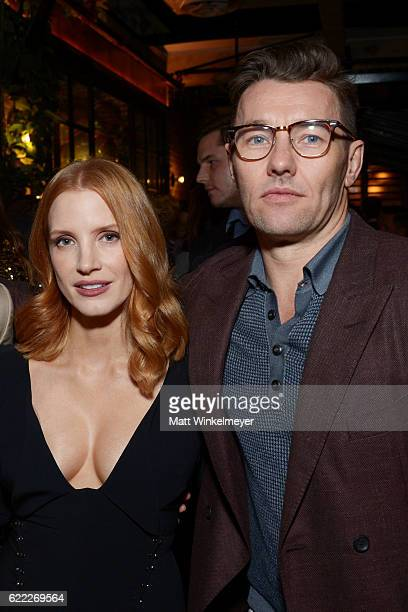 Jessica Chastain and Joel Edgerton attend the Hollywood Foreign Press Association and InStyle celebrate the 2017 Golden Globe Award Season at Catch...