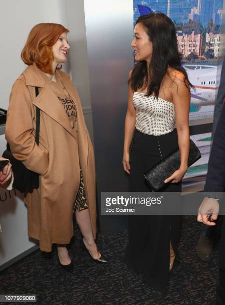 Jessica Chastain and Michelle Kwan attend The 6th Annual 'Gold Meets Golden' Brunch hosted by Nicole Kidman and Nadia Comaneci and presented by...