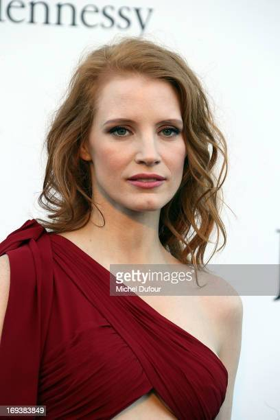 Jessica Chastain arrives at amfAR's 20th Annual Cinema Against AIDS at Hotel du CapEdenRoc on May 23 2013 in Cap d'Antibes France