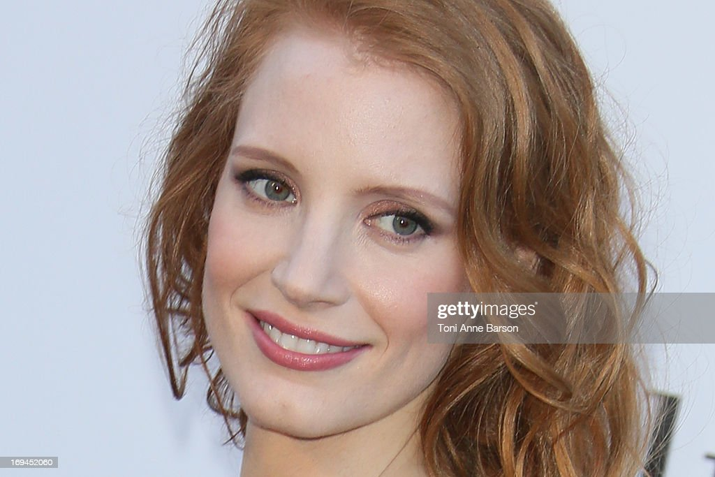 Jessica Chastain arrives at amfAR's 20th Annual Cinema Against AIDS at Hotel du Cap-Eden-Roc on May 23, 2013 in Cap d'Antibes, France.
