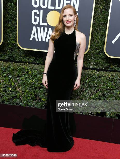Jessica Chastain arrives at the 75th Annual Golden Globe Awards at The Beverly Hilton Hotel on January 7 2018 in Beverly Hills California