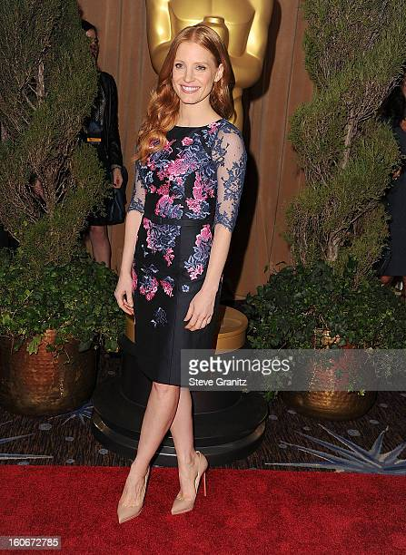 3412570f2439 Jessica Chastain arrives at the 85th Academy Awards Nominees Luncheon at  The Beverly Hilton Hotel on