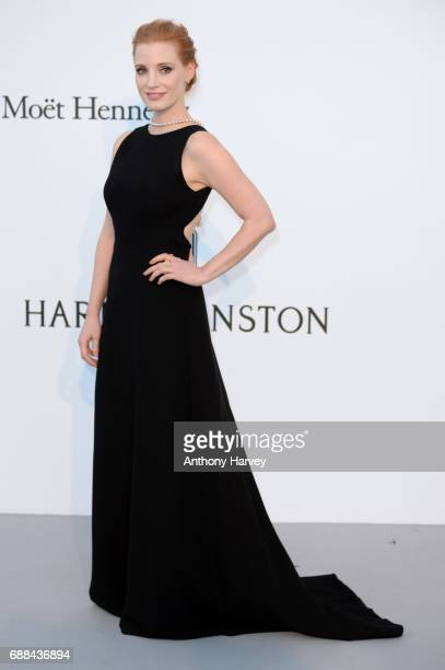 Jessica Chastain arrives at the amfAR Gala Cannes 2017 at Hotel du CapEdenRoc on May 25 2017 in Cap d'Antibes France