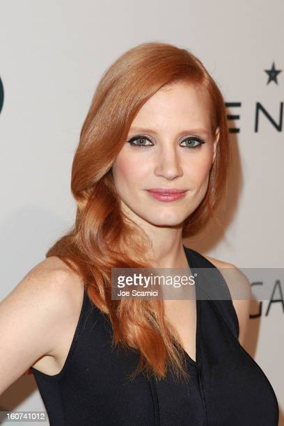 Jessica Chastain arrives at The Hollywood Reporter nominees' night 2013 celebrating 85th annual Academy Award nominees at Spago on February 4, 2013...