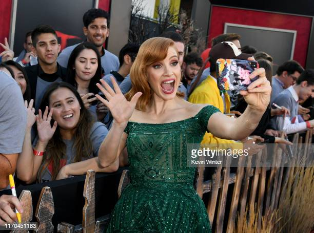 "Jessica Chastain arrives at the premiere of Warner Bros. Pictures"" ""It Chapter Two"" at Regency Village Theatre on August 26, 2019 in Westwood,..."