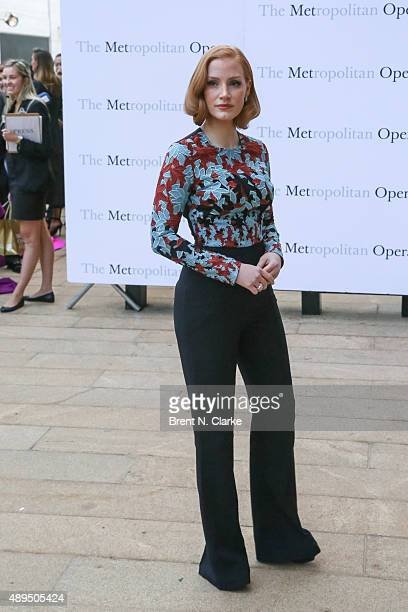 Jessica Chastain arrives for the Metropolitan Opera's 20152016 season opening night performance of Otello held at The Metropolitan Opera House on...