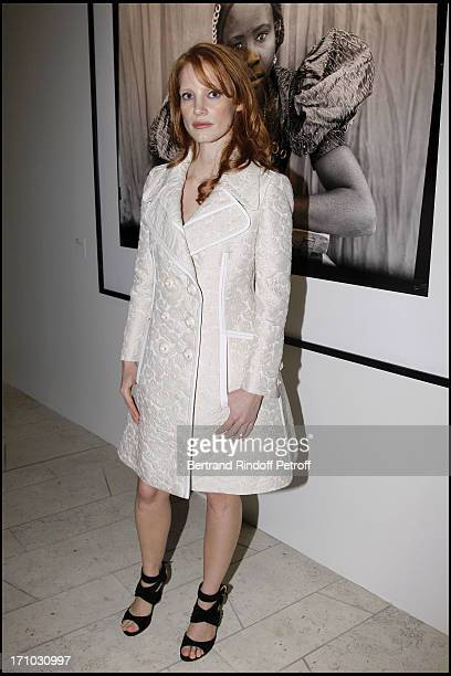 Jessica Chastain at Every Journey Began In Africa Party For The Exhibition Africa Rising And The Discovery Of The Collaboration Between Edun And...