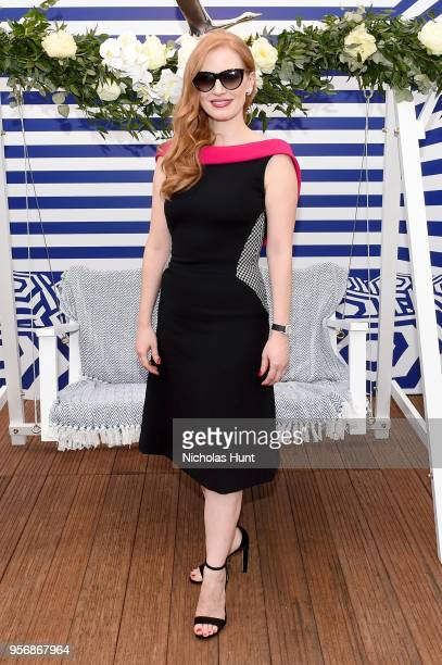 Jessica Chastain at the '355' cocktail party with DIRECTV and The Hollywood Reporter on the Grey Goose Terrace on May 10 2018 in Cannes France