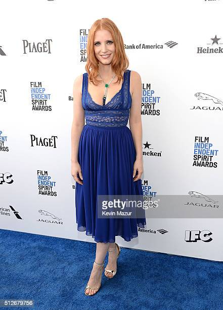 Jessica Chastain attends 2016 Film Independent Spirit Awards on February 27 2016 in Santa Monica California