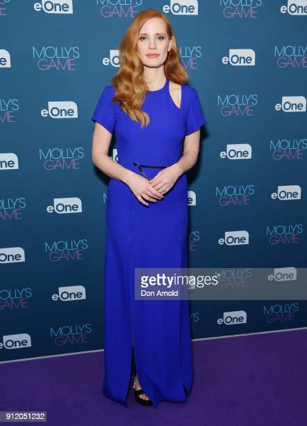 Jessica Chastain attends a QA for Molly's Game at Event Cinemas George Street on January 30 2018 in Sydney Australia