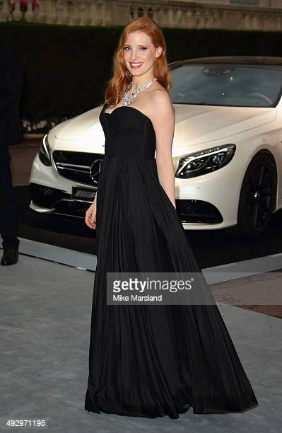 Jessica Chastain attends amfAR's 21st Cinema Against AIDS Gala Presented By WORLDVIEW BOLD FILMS And BVLGARI at the 67th Annual Cannes Film Festival...