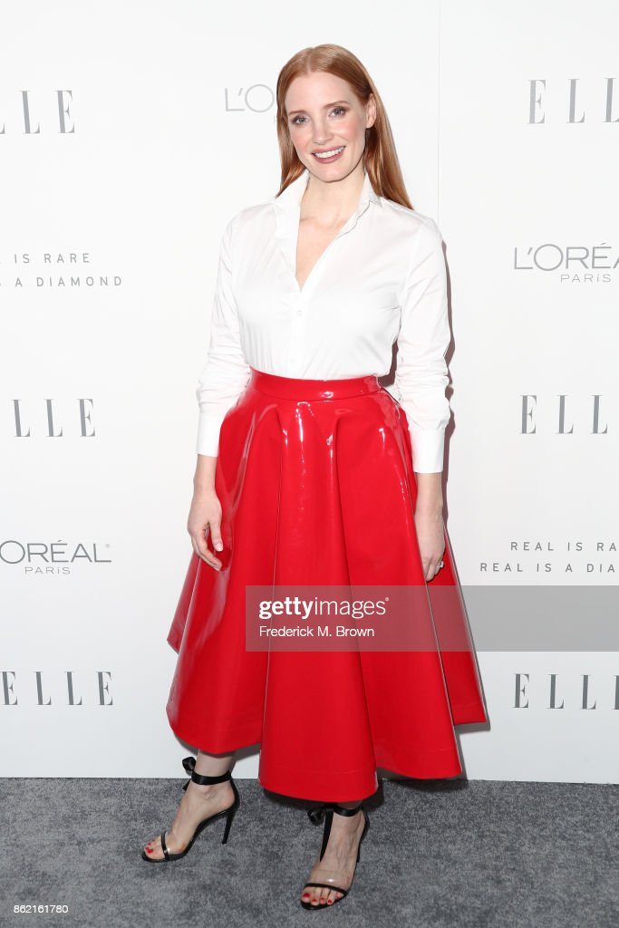Jessica Chastain attends ELLE's 24th Annual Women in Hollywood Celebration at Four Seasons Hotel Los Angeles at Beverly Hills on October 16, 2017 in Los Angeles, California.