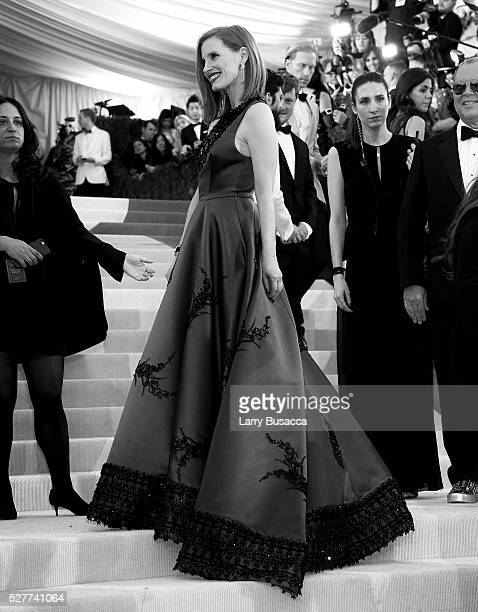 Jessica Chastain attends Manus x Machina Fashion In An Age Of Technology Costume Institute Gala at Metropolitan Museum of Art on May 2 2016 in New...