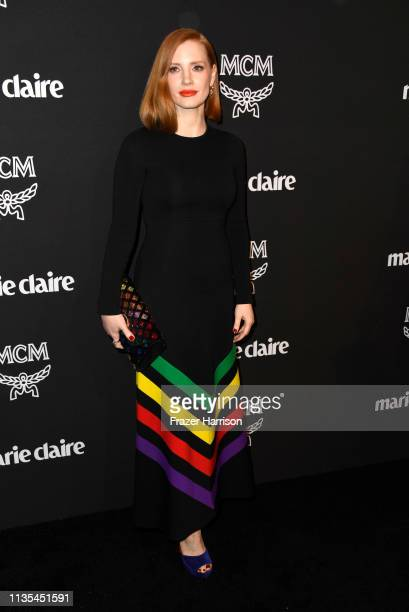 Jessica Chastain attends Marie Claire Change Makers Celebration at Hills Penthouse on March 12 2019 in West Hollywood California