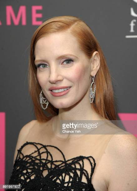 Jessica Chastain attends 'Molly's Game' New York premiere at AMC Loews Lincoln Square on December 13 2017 in New York City