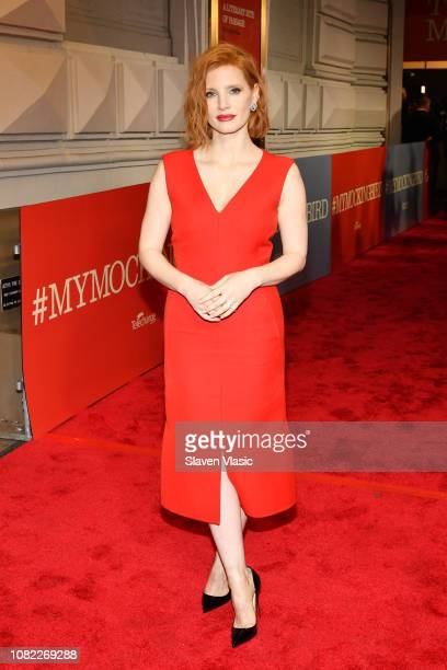 Jessica Chastain attends opening night of To Kill A Mocking Bird at the Shubert Theatre on December 13 2018 in New York City
