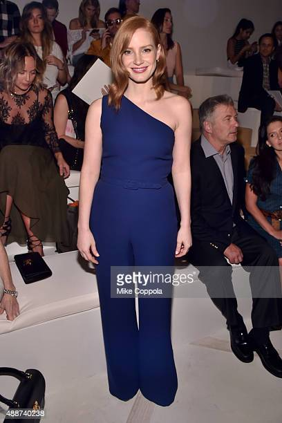 Jessica Chastain attends Ralph Lauren Spring 2016 during New York Fashion Week The Shows at Skylight Clarkson Sq on September 17 2015 in New York City