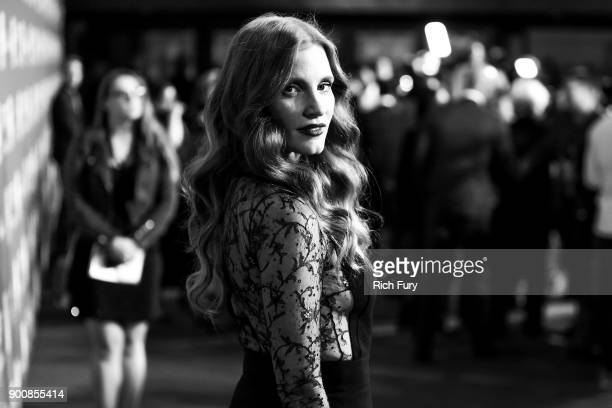 Jessica Chastain attends the 29th Annual Palm Springs International Film Festival Awards Gala at Palm Springs Convention Center on January 2 2018 in...