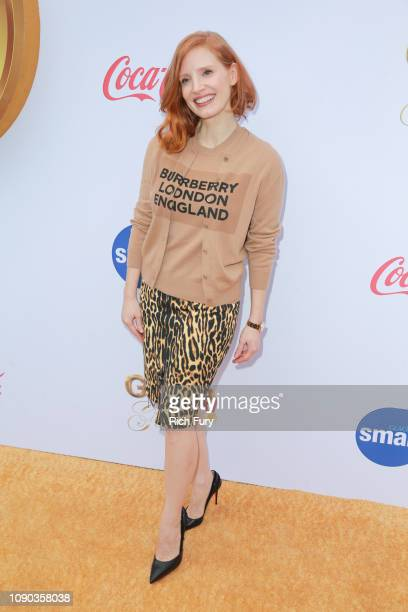 Jessica Chastain attends the 6th annual Gold Meets Golden party hosted by Nicole Kidman and Nadia Comaneci at The House on Sunset on January 05 2019...