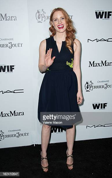 Jessica Chastain attends the 6th Annual Women In Film PreOscar Party hosted by Perrier Jouet MAC Cosmetics and MaxMara at Fig Olive Melrose Place on...