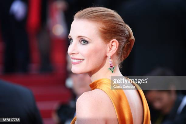 Jessica Chastain attends the 70th Anniversary of the 70th annual Cannes Film Festival at Palais des Festivals on May 23 2017 in Cannes France